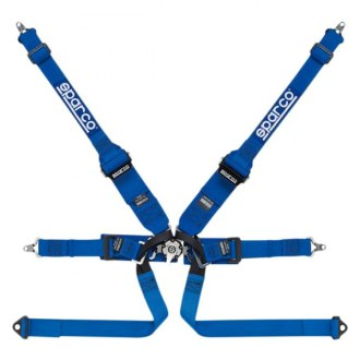 Sparco® - 6 Point HANS Compatible Individual Shoulder Bolt-In Fixing Competition Harness
