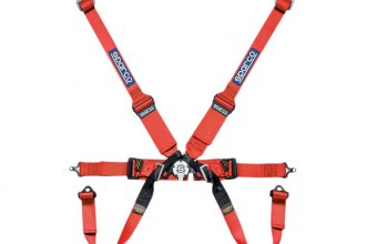 "Sparco® - 6 Points HANS Compatible Individual Shoulder Bolt-In Fixing Competition Harness (Pull Down Style; 3""/2""-2""-2"")"