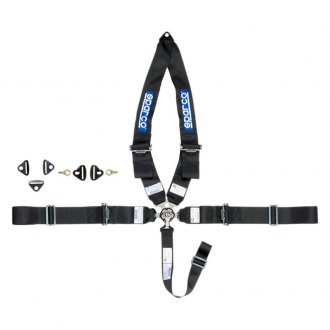 "Sparco® - 5 Point Type-1 Individual Shoulder Snap On Fixing Competition Harness, 3""-3""-2"""