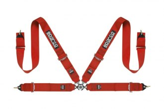 "Sparco® - 4 Points Individual Shoulder Snap On Fixing Competition Harness (3""-3"")"