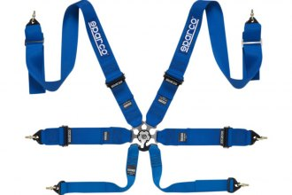 "Sparco® - 6 Points Individual Shoulder Snap On Fixing Competition Harness (Pull Up Style; 3""-3""-2"")"