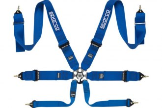 "Sparco® - 6 Points Individual Shoulder Snap On Fixing Competition Harness (Pull Down Style; 3""-3""-2"")"