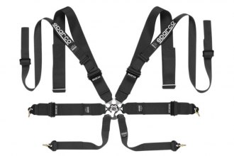 "Sparco® - 8 Points HANS Compatible Double Shoulder Snap On Fixing Competition Harness (Pull Up Style; 3""/2""-3""-2"")"