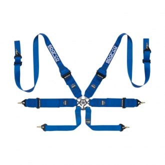 Sparco® - 6 Point HANS Compatible Individual Shoulder Snap On Fixing Competition Harness