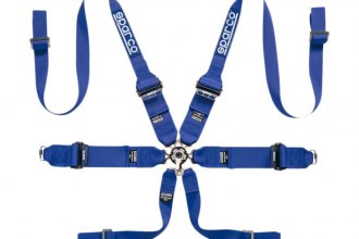 "Sparco® - 6 Points HANS Compatible Individual Shoulder Snap On Fixing Competition Harness (Pull Up Style; 3""-3""-2"")"