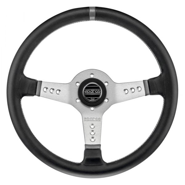 Sparco® - L777 Piuma Series Street Racing Steering Wheel, Leather, Silver
