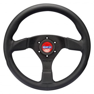 Sparco® - R383 Series Champion Steering Wheel, Black Leather