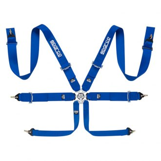Sparco® - 6-Points Competition Harness Set, Steel Adjuster