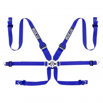 Sparco® - 6 Points Competition Harness Set, Blue