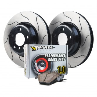 Sparta Evolution® - GP-1 Series 1-Piece Slotted Brake Kit with SPP 1.0 Brake Pads