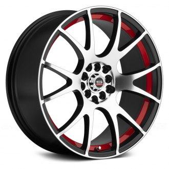 SPEC-1® - SP-2 Gloss Black with Machined Face and Red Undercut