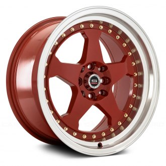 SPEC-1® - SPT-21 Red with Machined Lip and Gold Rivets