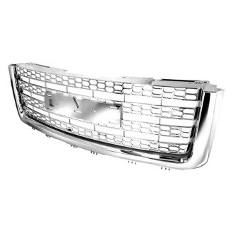 Spec-D® - Punch Hole Chrome Main Grille