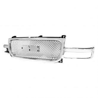 Spec-D® - Punch Hole Chrome Mesh Main Grille