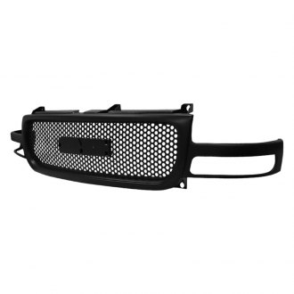 Spec-D® - Punch Hole Black Mesh Main Grille