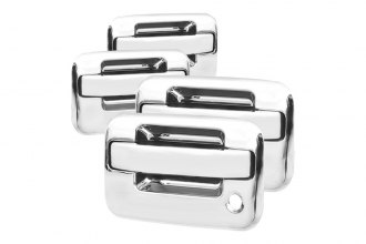 Spec-D® DRH-F15004C4 - Chrome Door Handle Covers with Driver and Passenger Side Keyholes