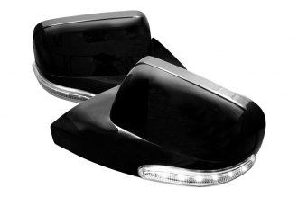 Spec-D® - Black Side Mirror Covers with White LEDs