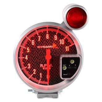 "Spec-D® - 7 Color 5"" Carbon Fiber Face Tachometer Gauge"