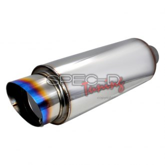 Spec-D® MF-RS341T - Fireball-style Muffler with Burnt Tip