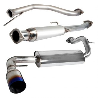 "Spec-D® - N1 Style Cat-Back Exhaust System with Burnt Tip (2.5"" Inlet)"