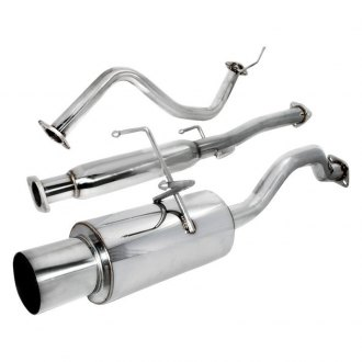 Spec-D® - N1 Style 304 SS Cat-Back Exhaust System with Passenger Side Rear Exit