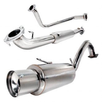 Spec-D® - N1 Style 304 SS Cat-Back Exhaust System with Driver Side Rear Exit
