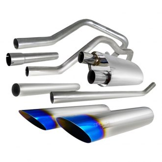 Spec-D® - N1 Style 304 SS Cat-Back Exhaust System with Dual Split Rear Behind Rear Tires Exit