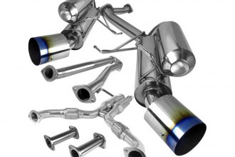 Spec-D® - Dual Cat-Back Exhaust System Burnt Tip