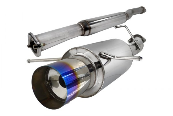 "Spec-D® - N1 Style Cat-Back Exhaust System with Burnt Tip (3"" Inlet)"