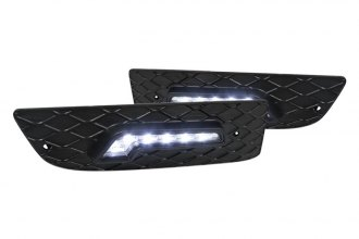 Spec-D® - Chrome LED DRL Fog Lights with Cover