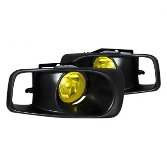 Spec-D® - Yellow OEM Style Fog Lights with Black Frame