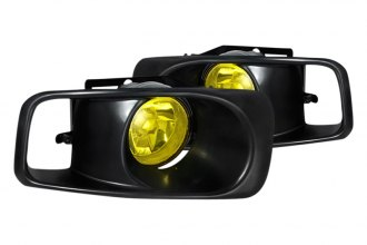 Spec-D® - Yellow Fog Lights with Black Frame