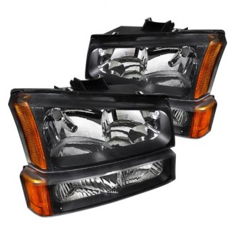 Spec-D® - Black Euro Headlights with Bumper Lights