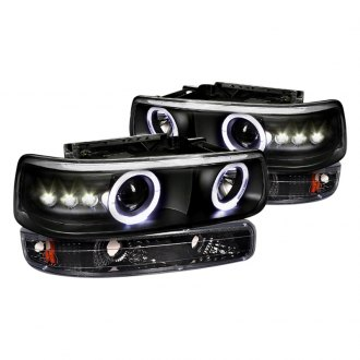 Spec-D® - Black Halo Projector LED Headlights and Bumper Lights