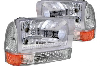 Spec-D® - Chrome Combo Projector Headlights with Corner Lights