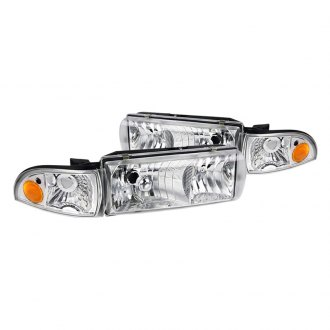 Spec-D® - Chrome Euro Headlights with Corner Lights