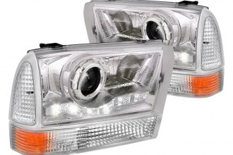 Spec-D® - Chrome Projector Headlights with LEDs