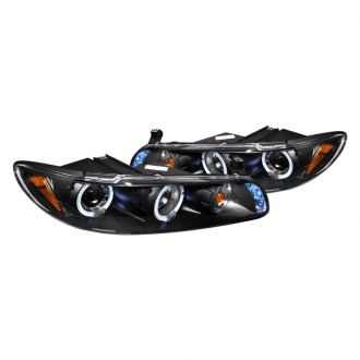 Spec-D® - Black Halo Projector LED Headlights with Corner Lights