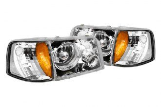 Spec-D® - Chrome Halo Projector Headlights with Bumper Lights