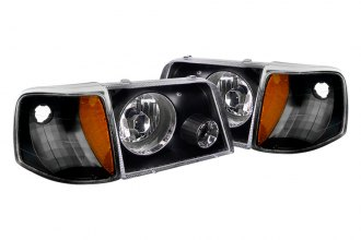 Spec-D® - Black Projector Headlights with Bumper Lights