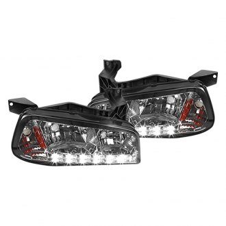 Spec-D® - Chrome/Smoke Euro Headlight
