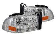 Spec-D� - Chrome Euro Headlights with LEDs