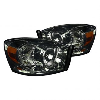 Spec-D® - Chrome/Smoke Euro Headlights