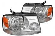 Spec-D® 2LH-F15004-RS - Chrome Euro Headlights
