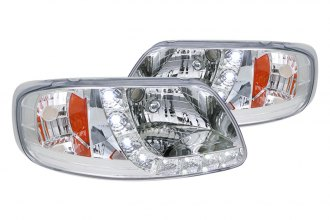 Spec-D® 2LH-F150971PC-RS - Chrome Euro Headlights with LEDs