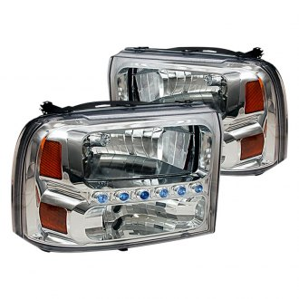 Spec-D® - Chrome LED Euro Headlights