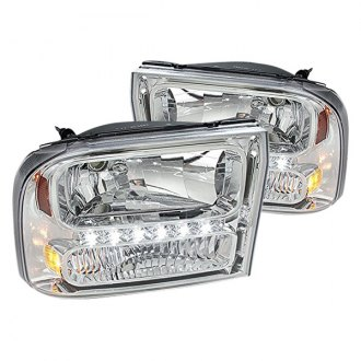 Spec-D® - Chrome LED Euro Headlight