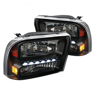 Spec-D® - Black LED Euro Headlight