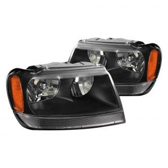 2002 jeep grand cherokee custom euro headlights. Black Bedroom Furniture Sets. Home Design Ideas