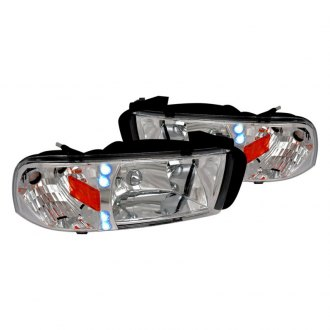 Spec-D® - Chrome Euro Headlights with LEDs